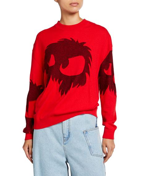 McQ Alexander McQueen Cut Up Monster Graphic Sweater
