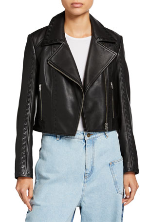 McQ Alexander McQueen Motoya Leather Biker Jacket