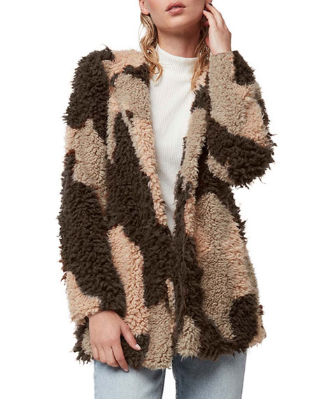 AS by DF Petra Shaggy Faux-Fur Jacket