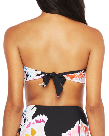 Trina Turk Seychelles Bandeau  Bikini Top with Sash Back