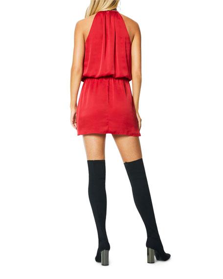Ramy Brook Raelyn Embellished Halter Mini Dress