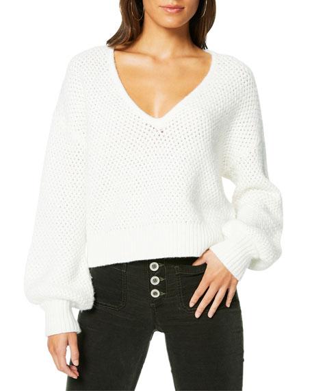 Ramy Brook Ralphie Knit V-Neck Sweater