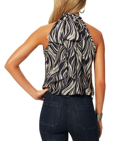 Ramy Brook Lucy Printed Halter Blouse