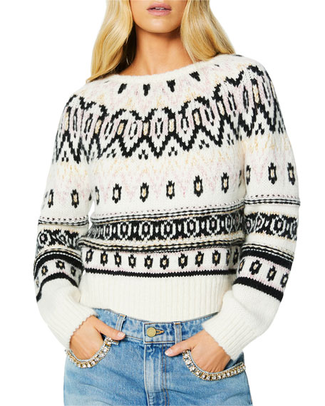 Ramy Brook Gavin Crewneck Fair Isle Sweater