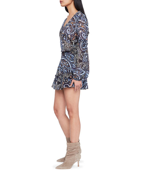 Image 2 of 4: Parker Maribel Printed Long-Sleeve Dress