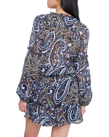 Image 3 of 4: Parker Maribel Printed Long-Sleeve Dress