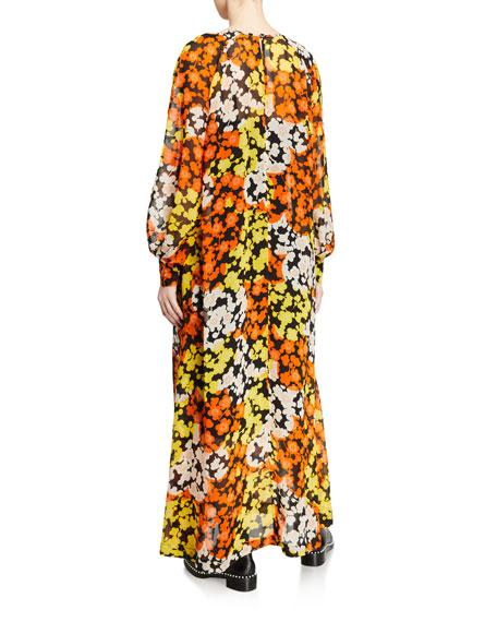 McQ Alexander McQueen Hisano Floral-Print Maxi Dress
