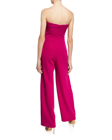 Trina Turk Furano Strapless Solid Smoothie Jumpsuit
