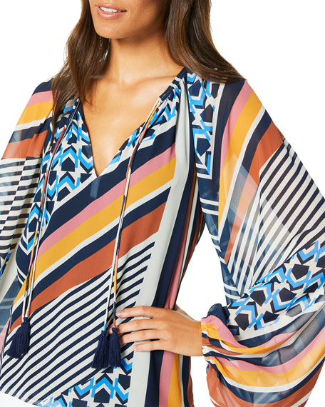 Ramy Brook Kayden Geometric Print Dress