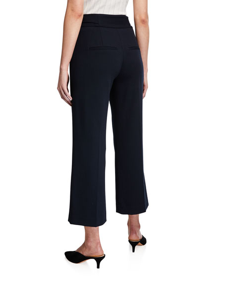 Veronica Beard Aubrie High-Rise Cropped Pants