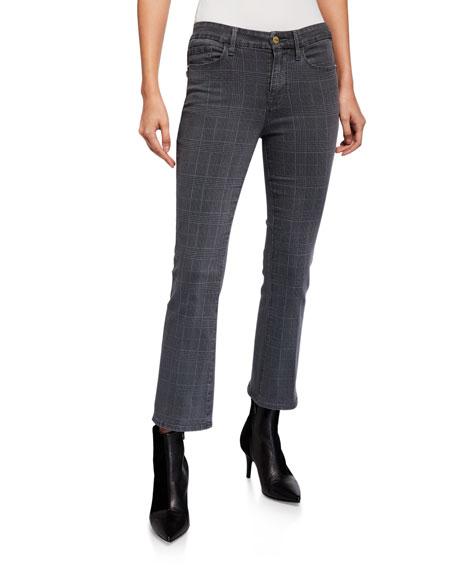 FRAME Le Crop Mini Boot Plaid Jeans