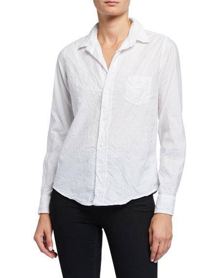 Frank & Eileen Barry Tonal-Stripe Texture Cotton Shirt