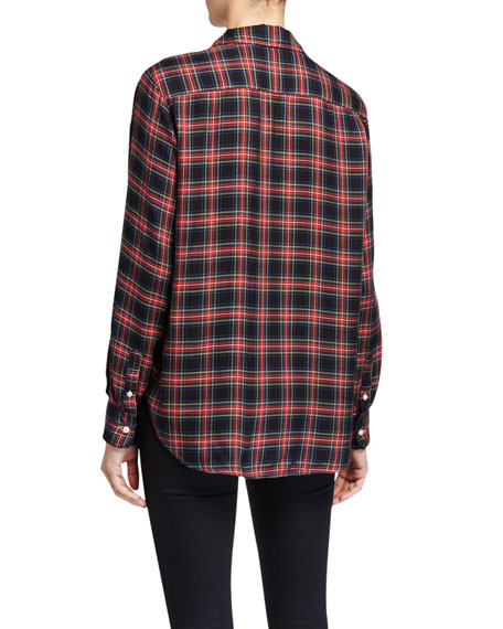 Frank & Eileen Eileen Button-Down Plaid Modal Shirt