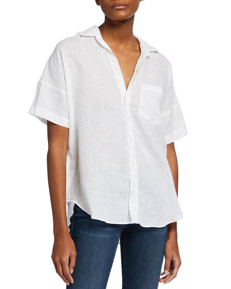 Frank & Eileen Short-Sleeve Button-Down Linen Shirt