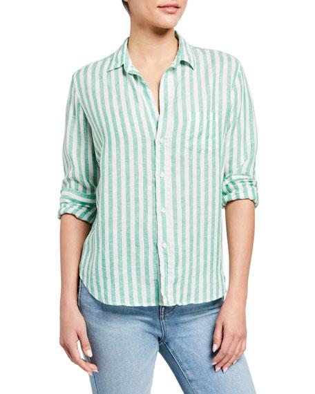Frank & Eileen Eileen Button-Down Striped Linen Shirt