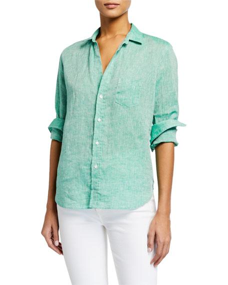Frank & Eileen Eileen Chambray Linen Button-Down Shirt