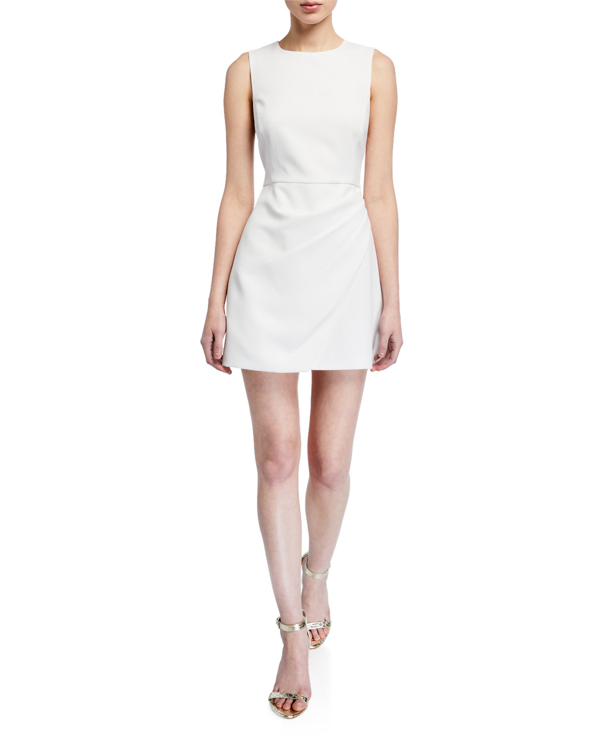 Alice + Olivia Kelsey Asymmetrical Draped Dress
