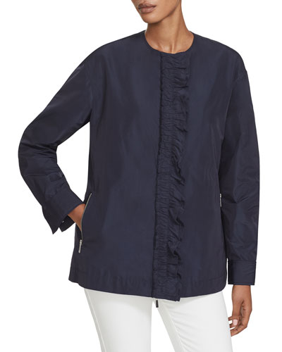 Arlo Ruffle-Front Jacket