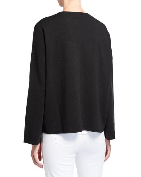 Lafayette 148 New York Plus Size Zip Front Wool Cardigan