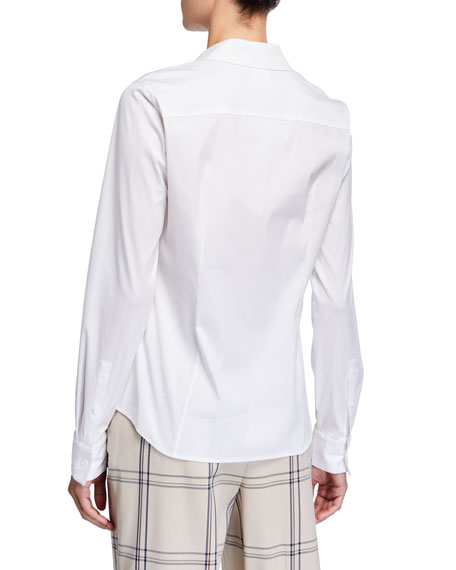 Lafayette 148 New York Plus Size Motego Button-Down Blouse
