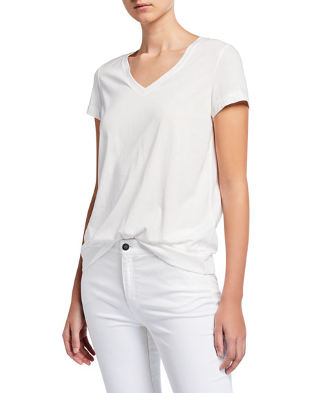 Lafayette 148 New York Plus Size The Modern V-Neck Tee