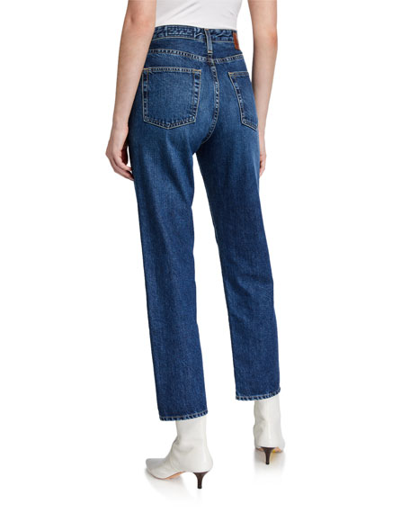 AG Phoebe Cropped Straight-Leg Jeans