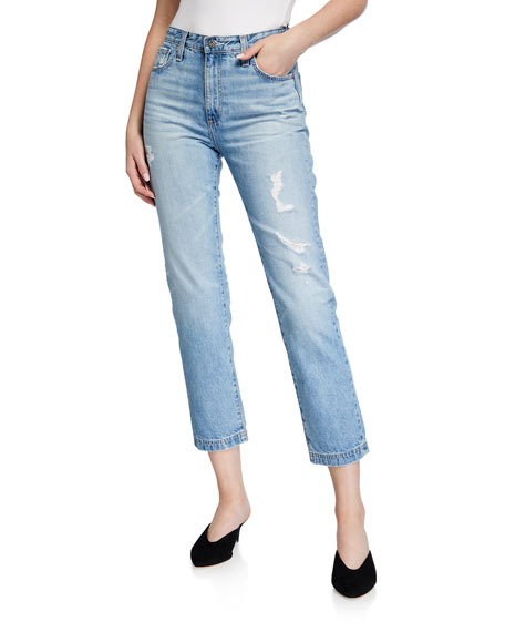 AG Isabelle Cropped High-Rise Jeans