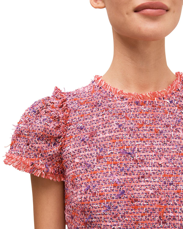 flutter-sleeve-tweed-dress by kate-spade-new-york