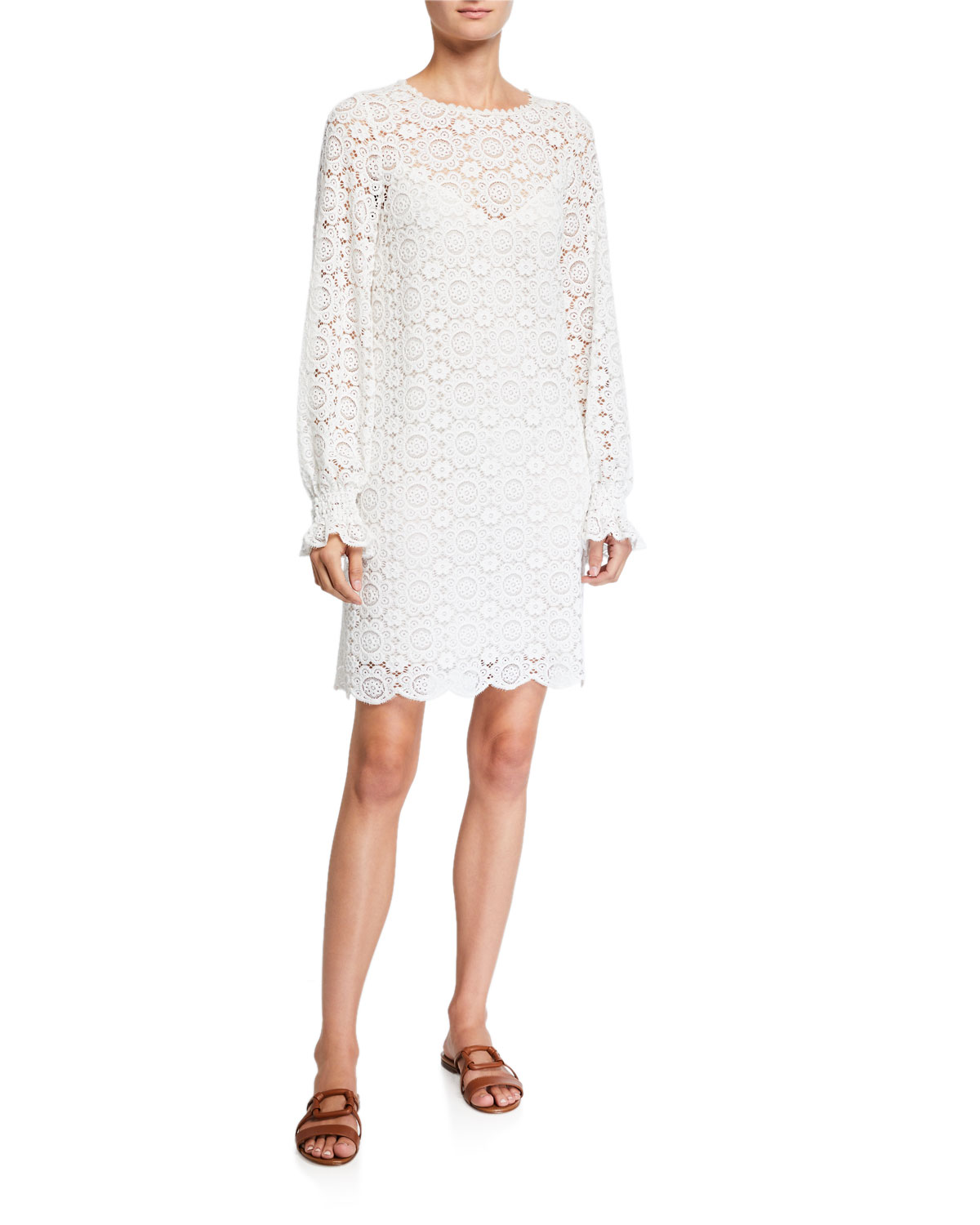 See by Chloe Summer Long-Sleeve Lace Dress