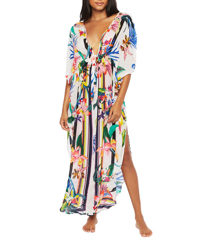 Treasure Cove Maxi Caftan w/ Adjustable Tie