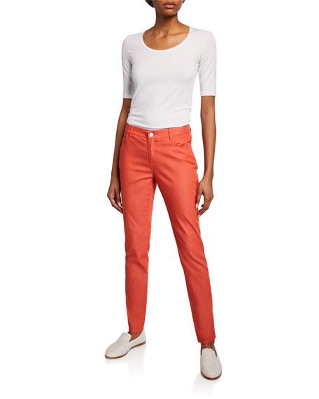 Lafayette 148 New York Mercer Primo Stretch-Denim Mid-Rise Skinny Jeans