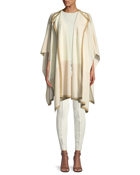 St. John Collection Jersey Knit Short-Sleeve Wool Sweater
