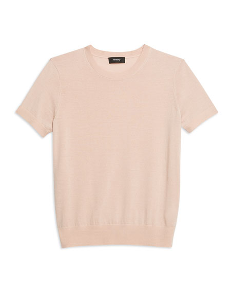Theory Basic Regal Wool Short-Sleeve Tee