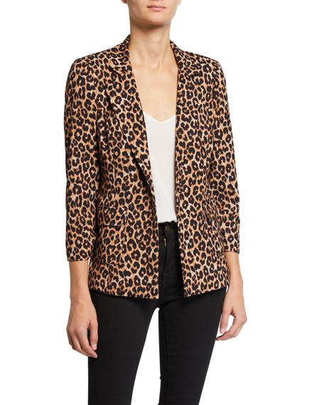Likely Amelia Leopard One-Button Blazer
