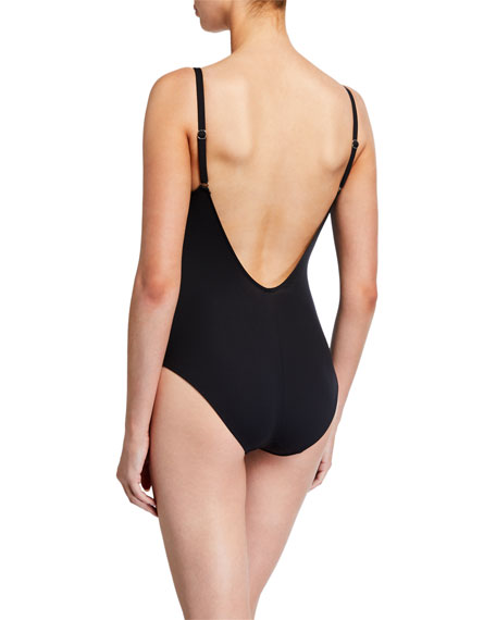 Lise Charmel Ajourage Couture Scoop-Neck One-Piece Swimsuit