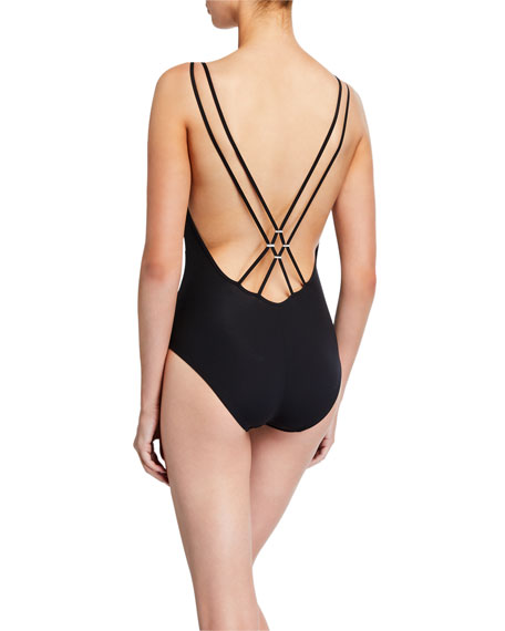 Lise Charmel Exception Couture Strappy One-Piece Swimsuit