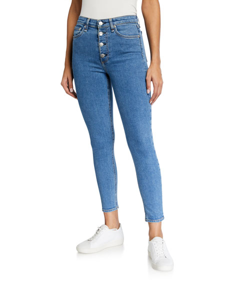 Image 1 of 3: Rag & Bone Nina High-Rise Ankle Skinny Jeans