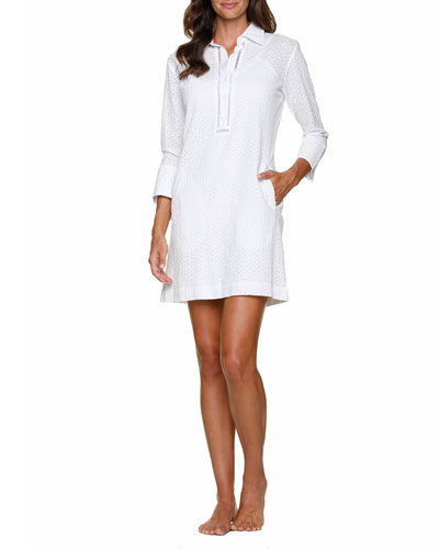 Lexington Eyelet Shirtdress
