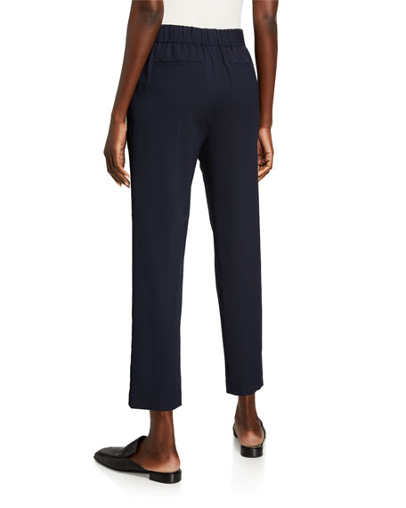 Vince Mid-Rise Straight Pull-On Pants