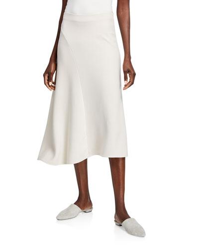 Asymmetric Seam Midi Skirt