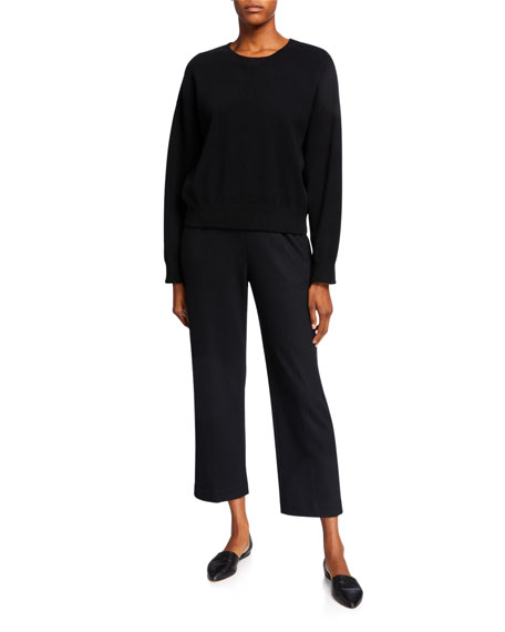 Vince Cropped Tapered Pull-On Pants