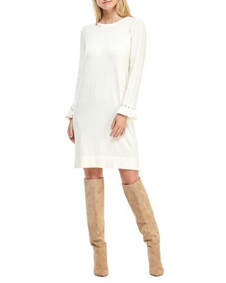 Gal Meets Glam Collection Ruffle-Sleeve Shift Dress