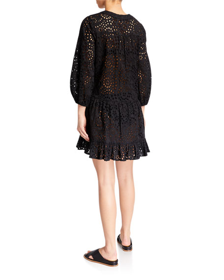 Shoshanna Umbrella Eyelet Mini Dress