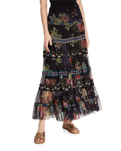 Lulu Tiered Mesh Skirt