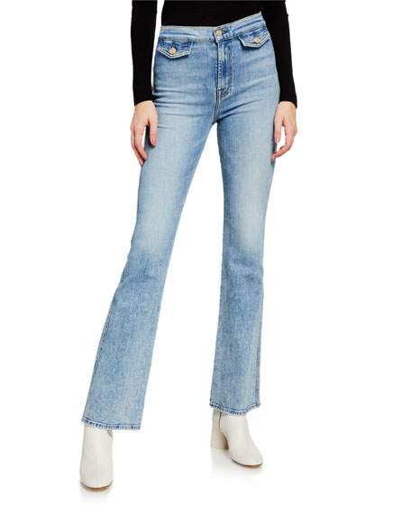 7 For All Mankind Modern 'A' Pocket Flare-Leg Jeans