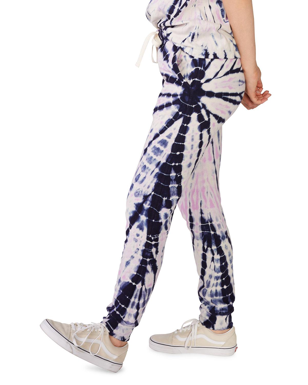 Monrow Bamboo Burst Tie Dye Girlfriend Sweatpants