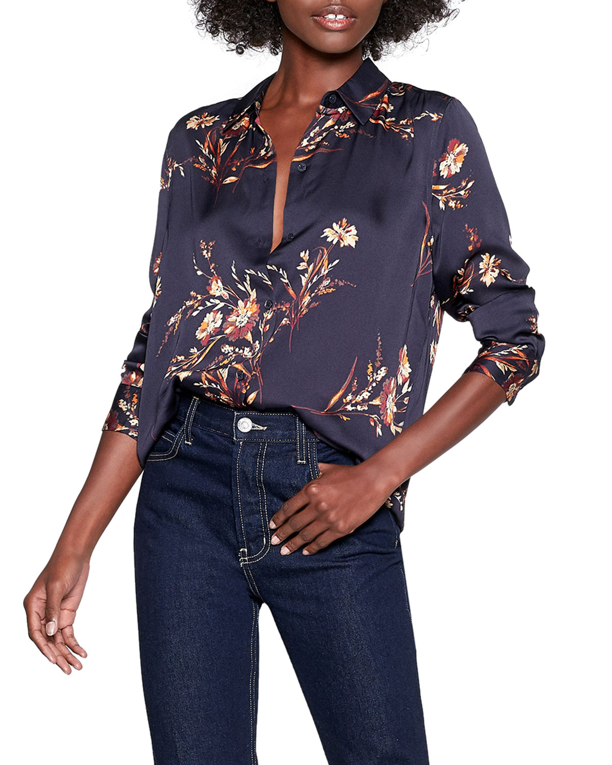Essential Floral Button Down Shirt by Equipment