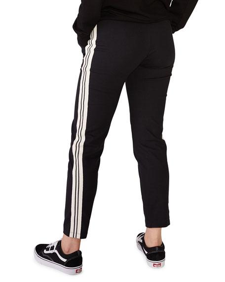 Monrow Patch Pocket Pants w/ Striped Rib