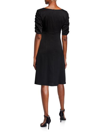Nanette Lepore Satin Draped Dress