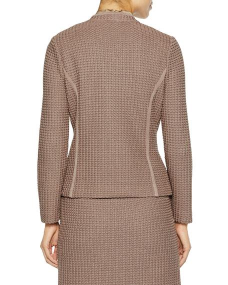 Misook Modern Dimensional Textured Knit Jacket